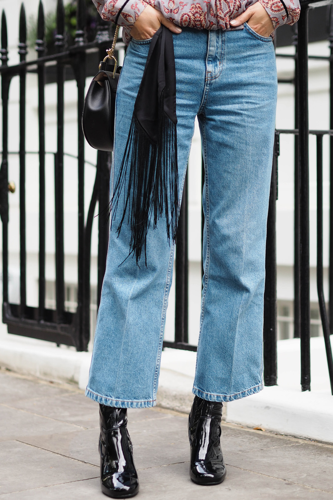 EJSTYLE-wears-wide-leg-cropped-Topshop-jeans-Black-patent-River-Island-block-heel-ankle-boots-skinny-fringe-scarf-belt