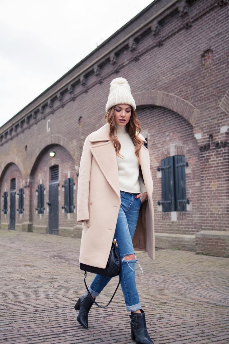 pom-pom-beanie-camel-coat-boyfriend-jeans-rolled-jeans-ankle-boots-turtleneck-sweater-jacket-on-shoulder-via-pinterest